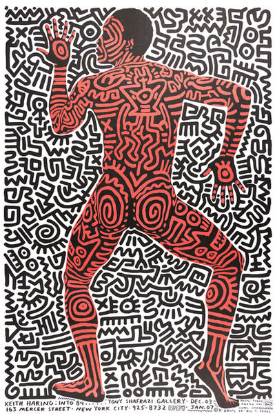 Keith Haring, 'Into 84 Exhibition Poster [Tony Shafrazi Gallery]', 1983-1984