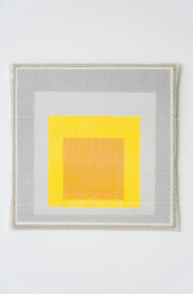 Tammi Campbell, 'Homage to the Square with Bubblewrap and Packing Tape', 2019