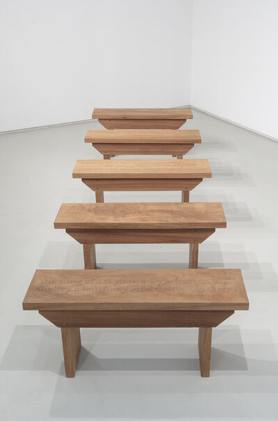 Ian Hamilton Finlay, 'Five Benches for a Lane', 1998