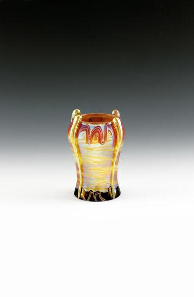 Loetz, 'Small vase with world exhibition decor', Bohemia-c. 1901