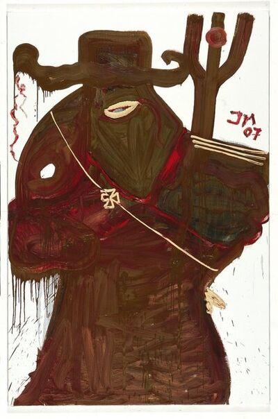 """Jonathan Meese, '""""Don Panzerfaust mit Feengesichtchen (gräuliche Diamantin - die Zahnvölkische)""""', 2007"""