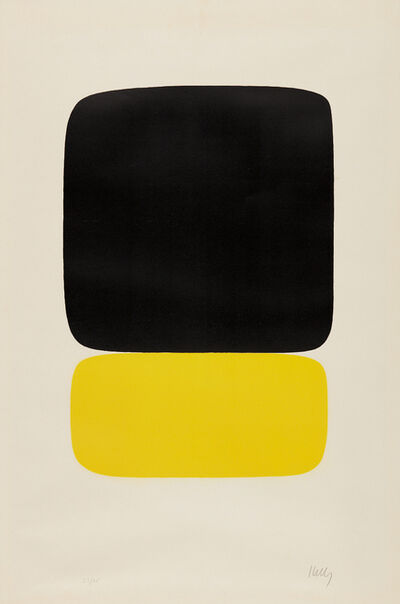 Ellsworth Kelly, 'Black over Light Yellow', 1964-1965