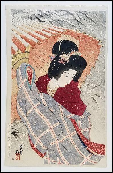 Itō Shinsui, 'Snowstorm', 1932