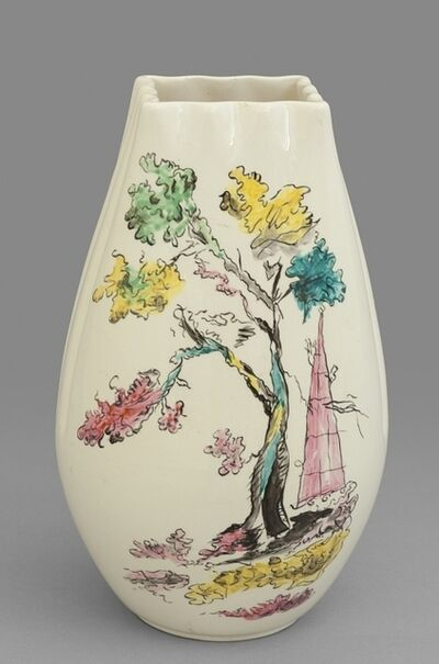 Guido Andloviz, 'A ceramic vase with decoration '7651' for S.C.I. (Società Ceramica Italiana Laveno)', 1953