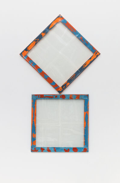 Carla Accardi, 'Due quadrati blu arancio', 1981