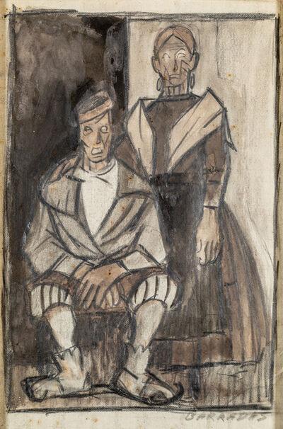 """Rafael Barradas, '""""Marinero y señora""""', ca. 1923"""