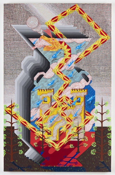 Andrew Schoultz, 'This Fortress, A Facade. This Vessel, Most Fragile', 2018