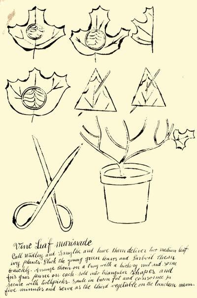 Andy Warhol, 'Vine Leaf Marinade', 1959
