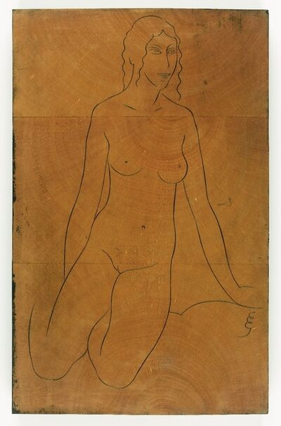 "Eric Gill, 'Female Nude, kneeling"" - Twenty-five Nudes (P947), c 1938', ca. 1938"