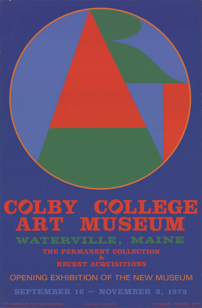 Robert Indiana, 'Colby College Art Museum', 1973