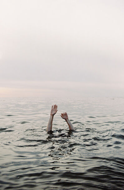 David van Dartel, 'Julian in the North Sea / Julian in de Noordzee', ca. 2019