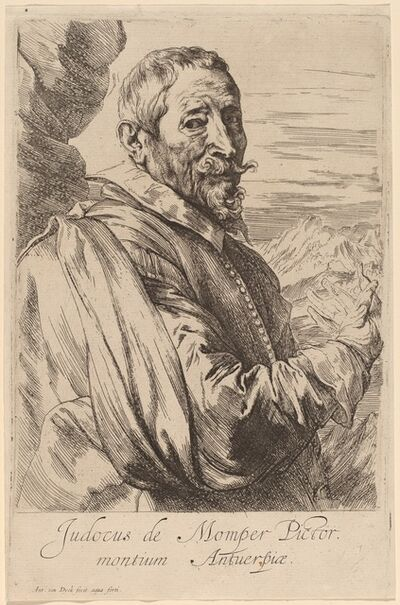 Anthony van Dyck, 'Jodocus de Momper', probably 1626/1641