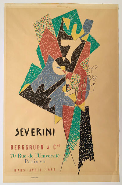 Gino Severini, 'Severini, Berggruen & Cie Poster, Gallery Poster ', 1956