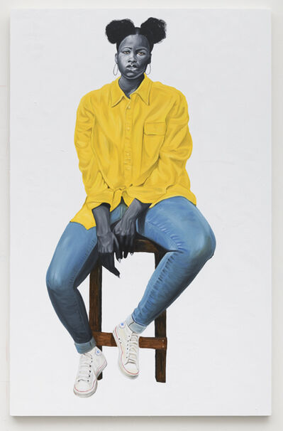 Otis Kwame Kye Quaico, 'Portrait in Yellow', 2019