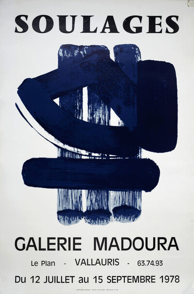 Pierre Soulages, 'Soulages Galerie Madoura 1978 Vallauris', 1978