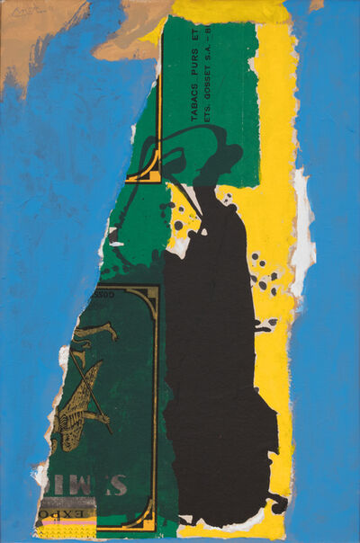 Robert Motherwell, 'St Michael Collage with Blue', 1985