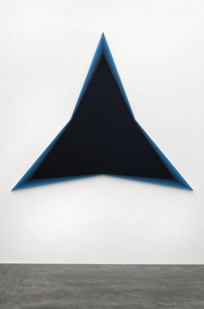 Philippe Decrauzat, 'Black Should Bleed to Edge (Blue)', 2012