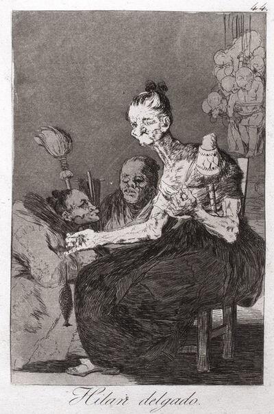Francisco de Goya, 'Hilan Delgado (They Spin Finely)', 1799