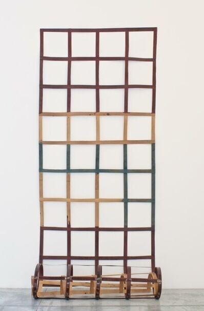 Daniel Dezeuze, 'Echelle de bois souple - rouge et jaune', 1974