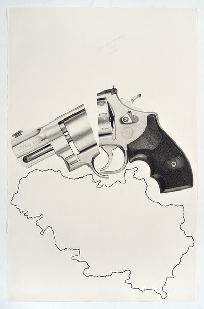 Karl Haendel, 'Split Smith & Wesson Over Serbia'