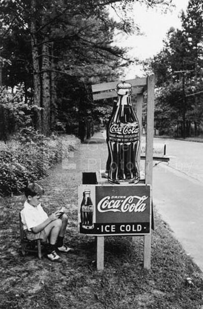 Alfred Eisenstaedt, 'Little Boy Selling Coca-Cola at Roadside, Atlanta, GA', 1936