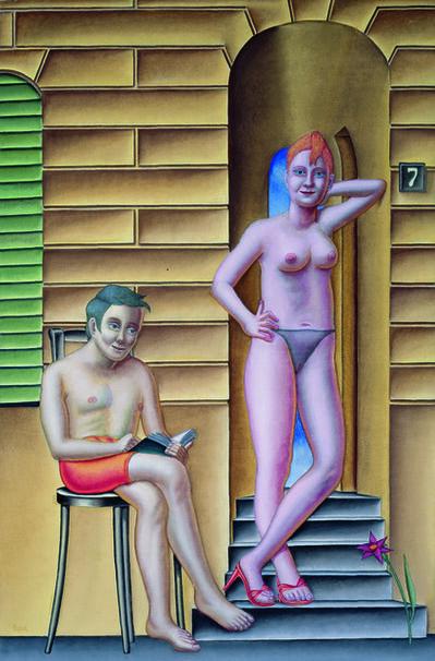 Konrad Klapheck, 'La rue I / Die Strasse I', 2005
