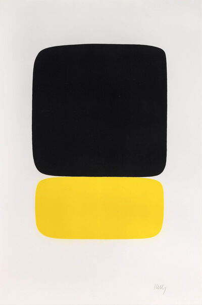 Ellsworth Kelly, 'Black over Yellow (Noir sur jaune)', 1964