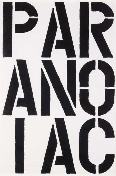 Christopher Wool, 'Paranoiac', 1989
