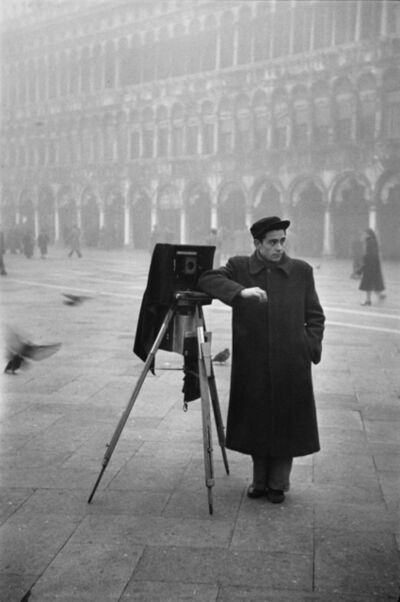 Fred Maroon, 'Photographer in Piazzo San Marco, Venice', 1950