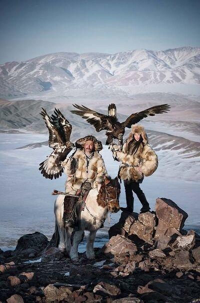 Jimmy Nelson, 'XXX 116 Dalaikhan with girl Khoyor Tolgoi Hill, Altan Tsogts County Bayan Ulgii Provence, Mongolia ', 2017