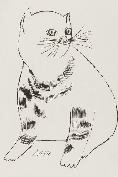 Andy Warhol, 'Sam (from Twenty-five cats name(d) Sam and one blue pussy) (Feldman and Schellmann IV.61B)', ca. 1954