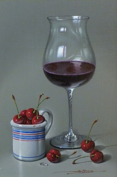 Javier Mulio, 'Red Cherries and a Cup', 2018