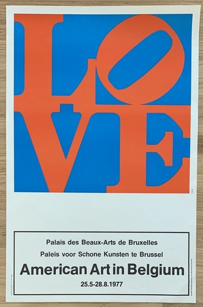 "Robert Indiana, 'Original Vintage Belgian Exhibition Poster, ""American Art in Belgium""', 1977"