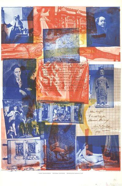 Robert Rauschenberg, 'Centennial Certificate', 1970