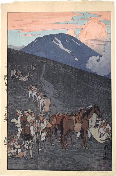 Yoshida Hiroshi, 'Ten Views of Fuji: The Horse Turnaround at Umagaeshi', 1928