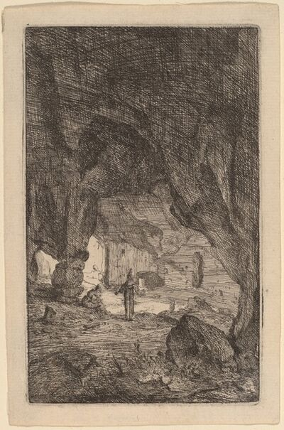 Bartholomeus Breenbergh, 'Grotto with Friars', 1640