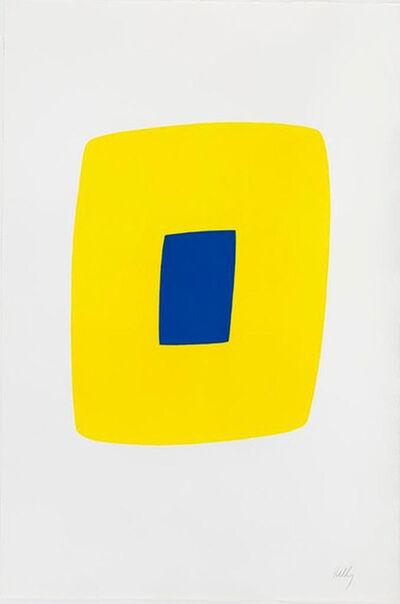 Ellsworth Kelly, 'Yellow with Dark Blue', 1964-1965