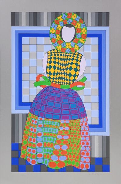 Victor Vasarely, 'FILLE FLEUR (SILVER)', ca. 1982