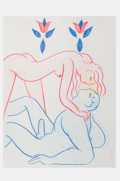 ALPHACHANNELING, 'Two Souls - Red and Blue Figure', 2016
