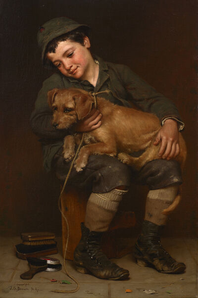 John George Brown, 'Can't Get Acquainted', 1888