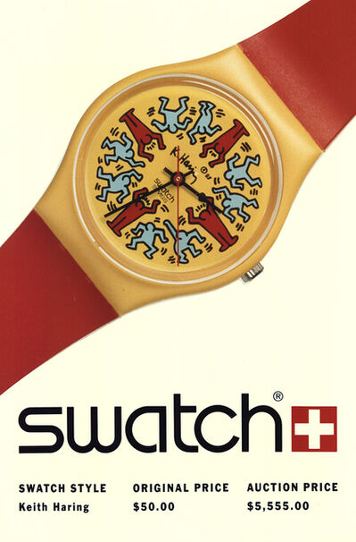 Keith Haring, 'Swatch: Keith Haring-Model Avec Personnages'