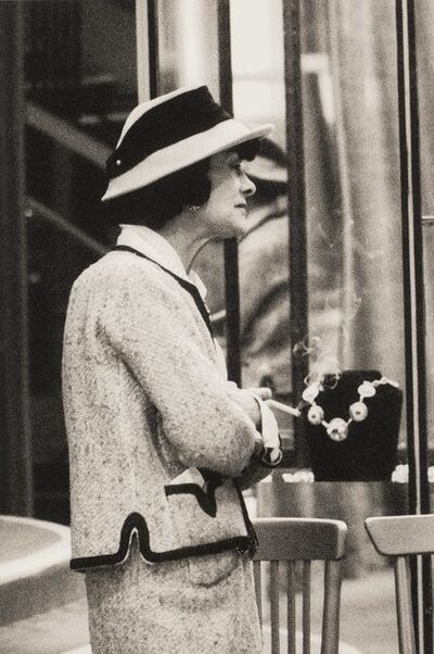 Milton H. Greene, 'Coco Chanel in Front of Her Boutique', circa 1961