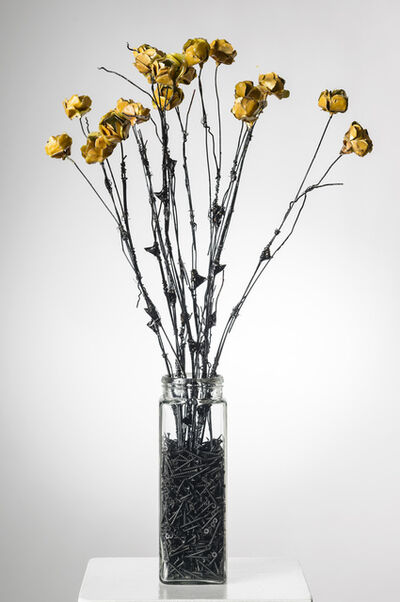 Elizabeth Jordan, 'Flowers in Glass Vase w/stones : 'For the Undeserving, You Know Who You Are'', 2013