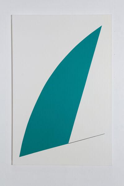 Leon Polk Smith, 'yonder turquois green', 1991