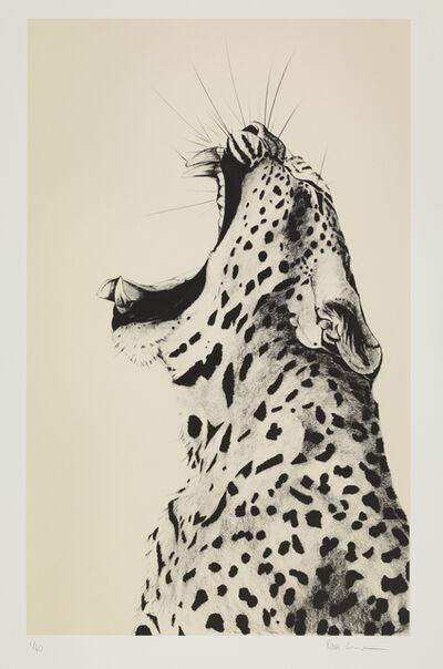 Rose Corcoran, 'Leopard Sound on Cream Silkscreen'