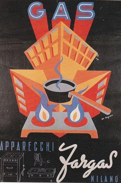 Fortunato Depero, 'Gas apparecchi Fargas', 1947