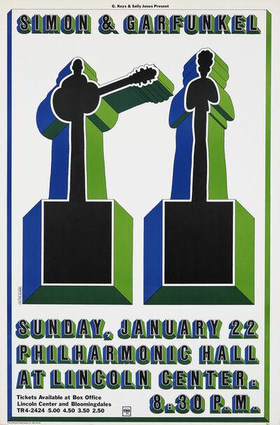 Milton Glaser, 'Milton Glaser Simon and Garfunkel concert poster ', 1967