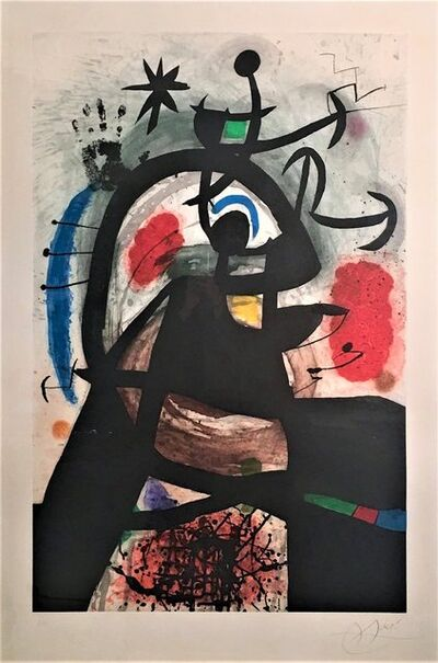 Joan Miró, 'Le Permissionnaire', 1974