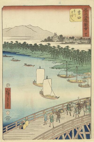 Utagawa Hiroshige (Andō Hiroshige), 'Yoshida', 1855
