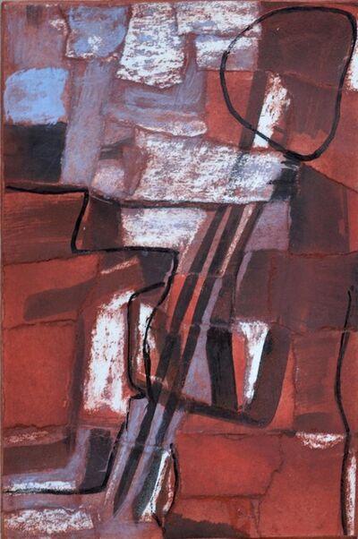 George Dannatt, 'Papier déchiré No 1 Blue deep red ', 1981